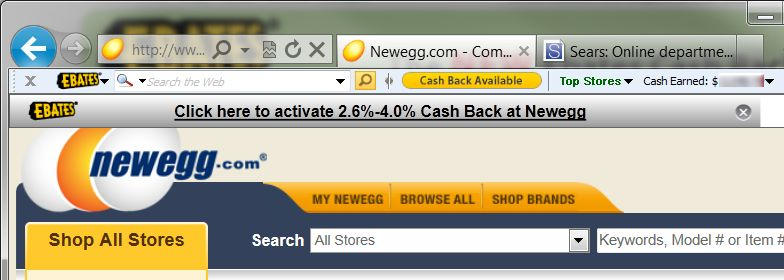 The Ebates Cash Back Toolbar simplifies your cash-back shopping.