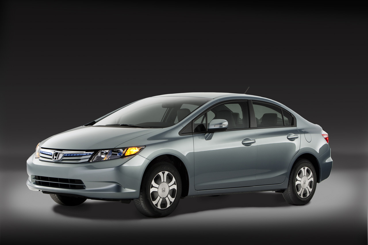 The 2012 Honda Civic Hybrid debuts with a new lithium ion battery pack and a combined 45 mpg fuel economy.