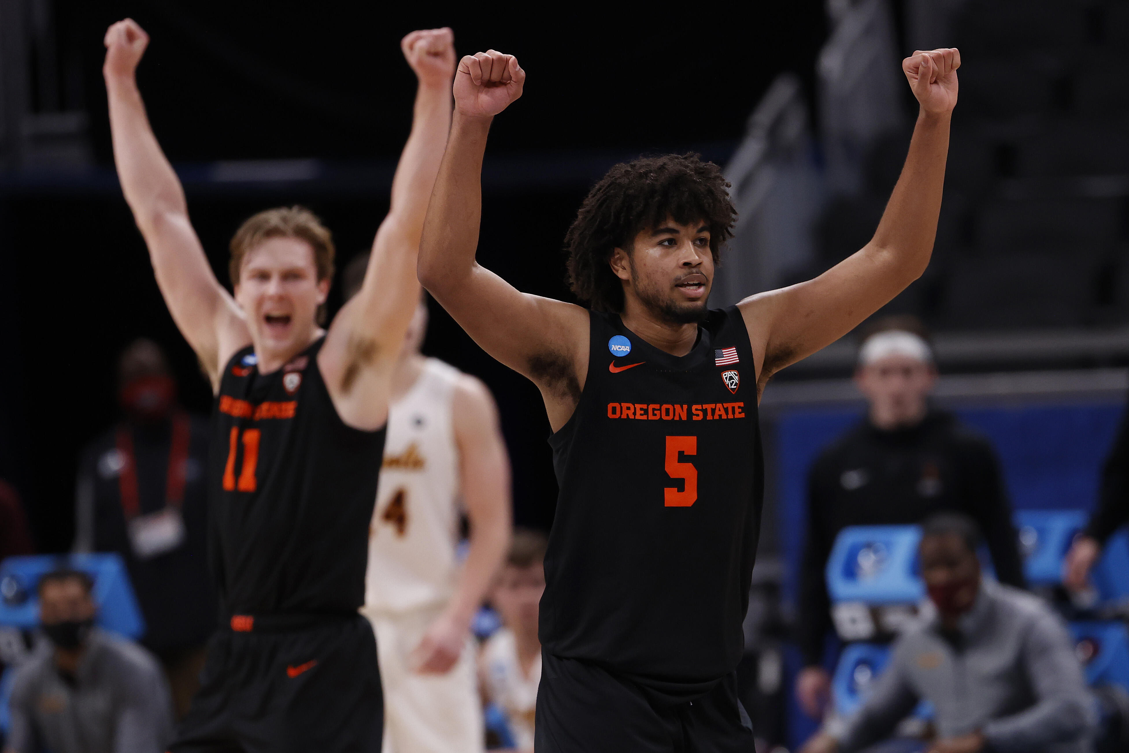 Ethan Thompson of the Oregon State Beavers