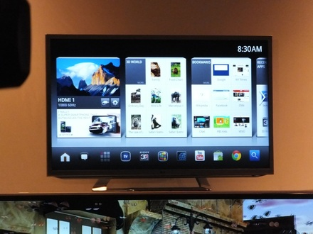 LG Google TV Android interface
