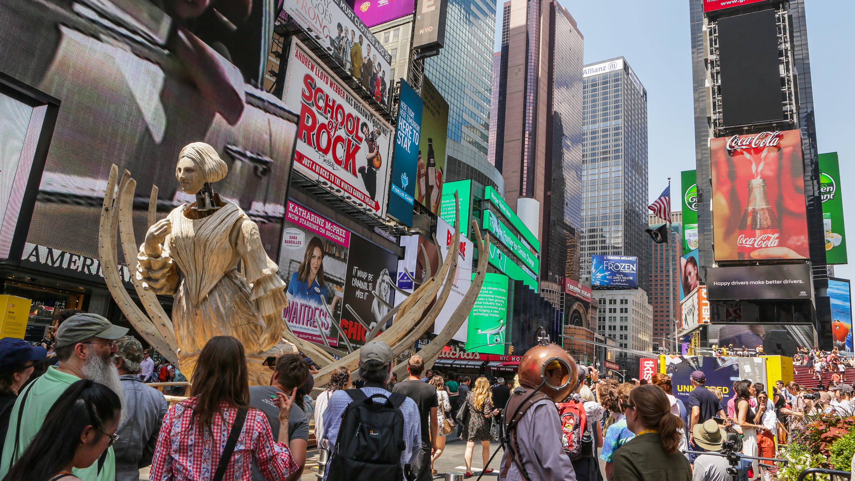 Mel Chin AR Unmoored Hololens Art Times Square