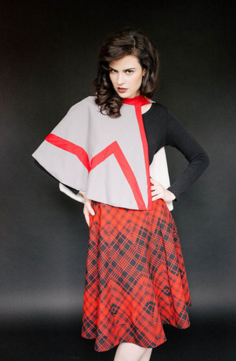Do your best Audrey Horne bad girl impression with while wearing this Smoking the The Girls Room Caplet.
