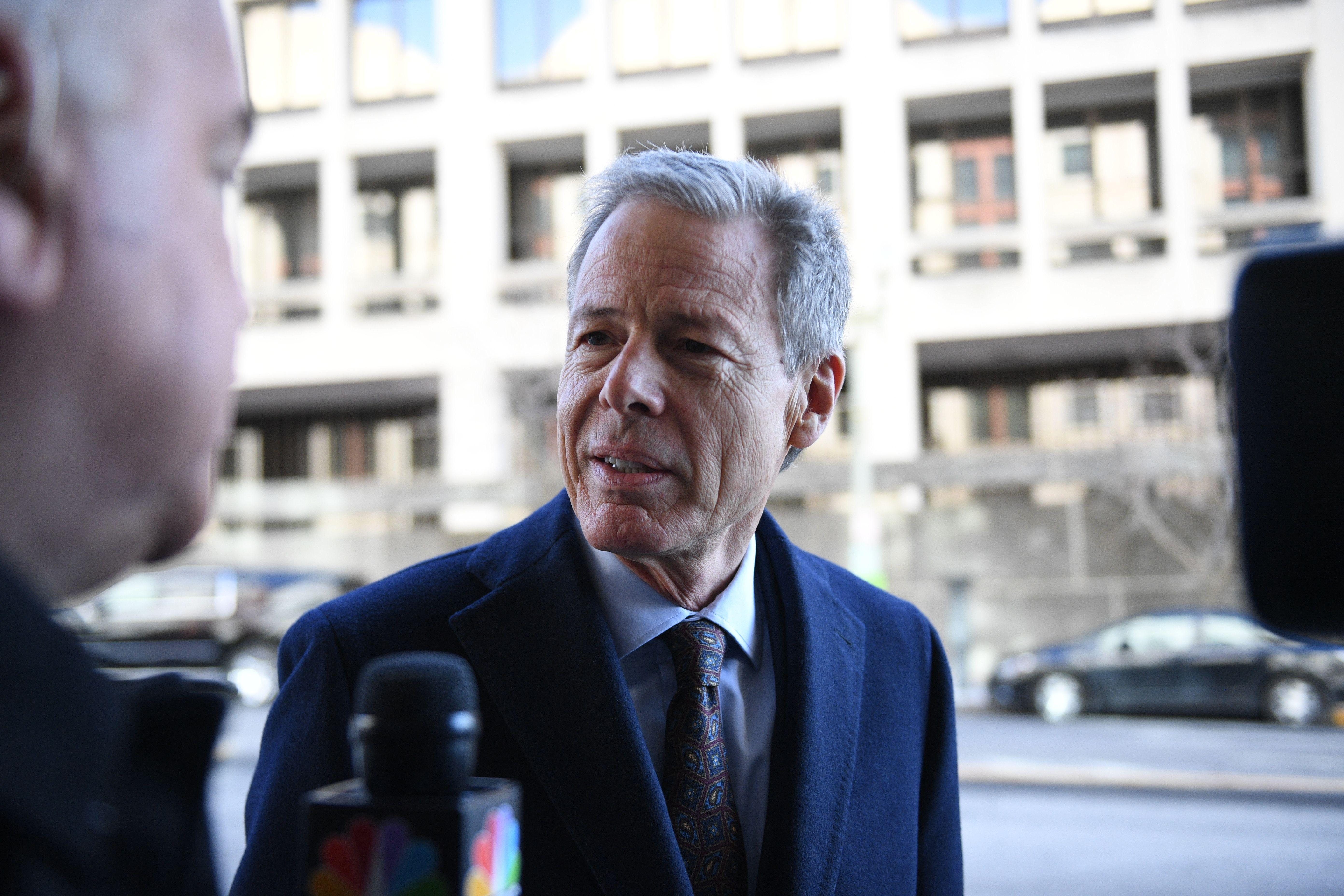 Time Warner CEO Jeff Bewkes arrives for opening statements back on March 22.