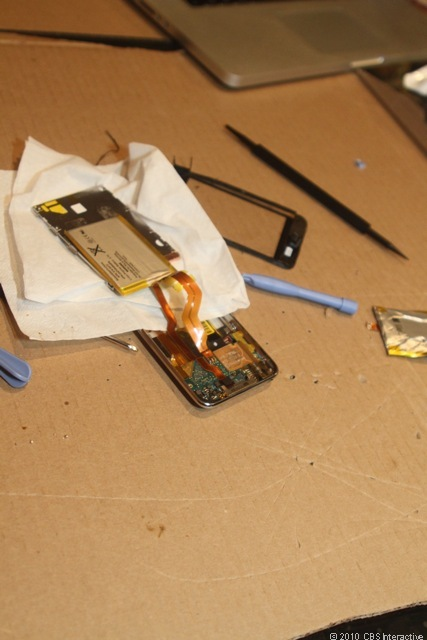 New battery soldered into place