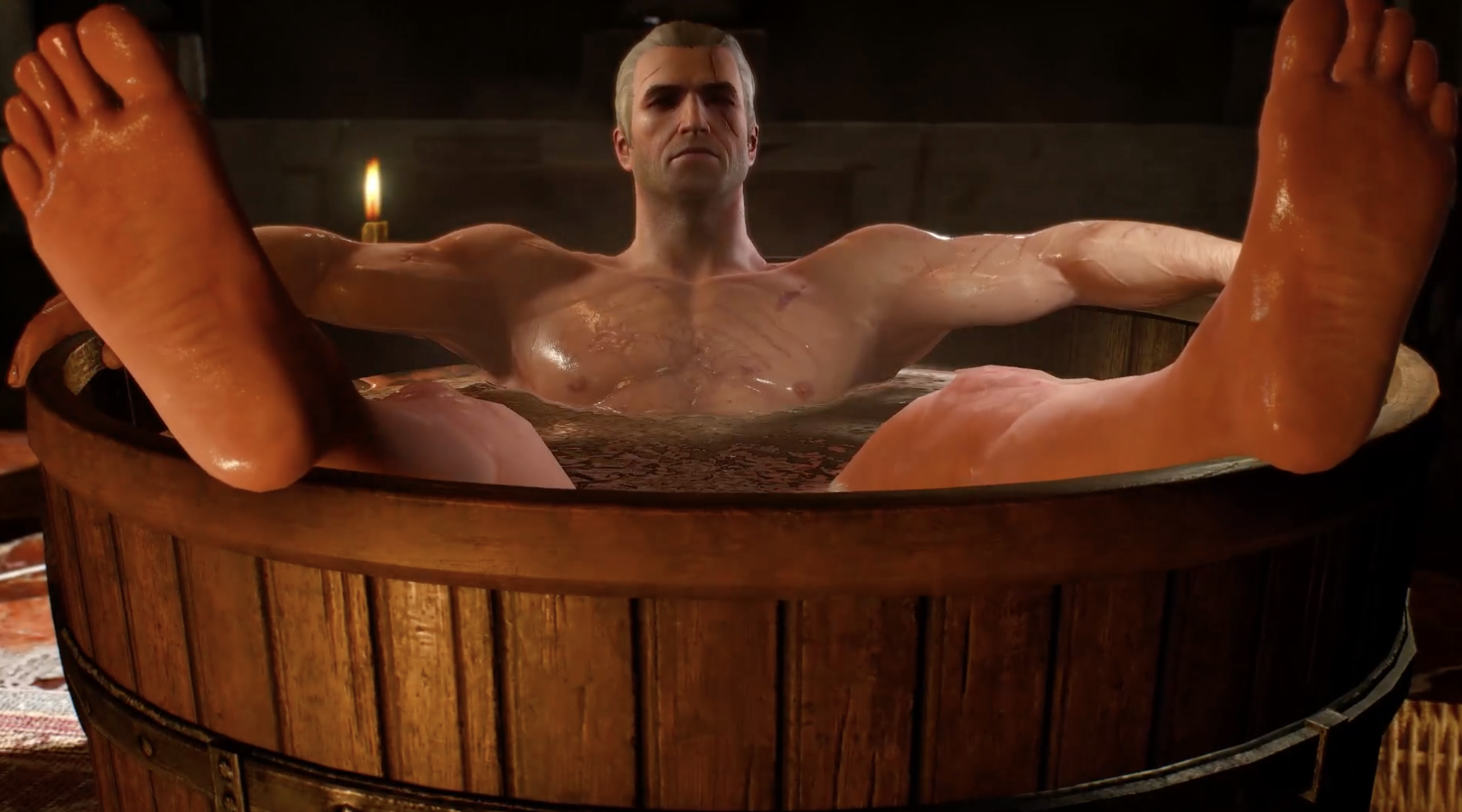 One of the most popular streams when the new category went live was of Geralt of The Witcher series taking a bath.