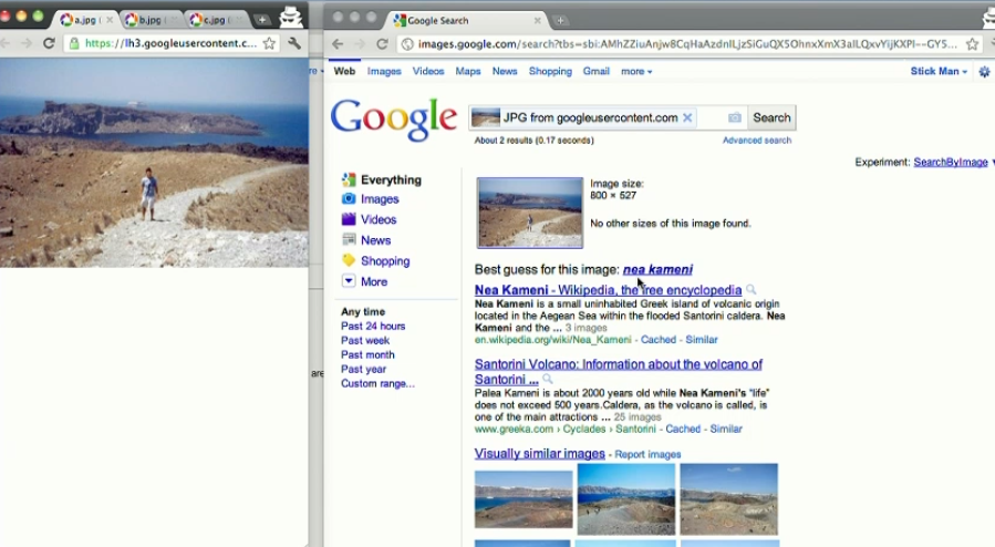 Google's new Search by Image.