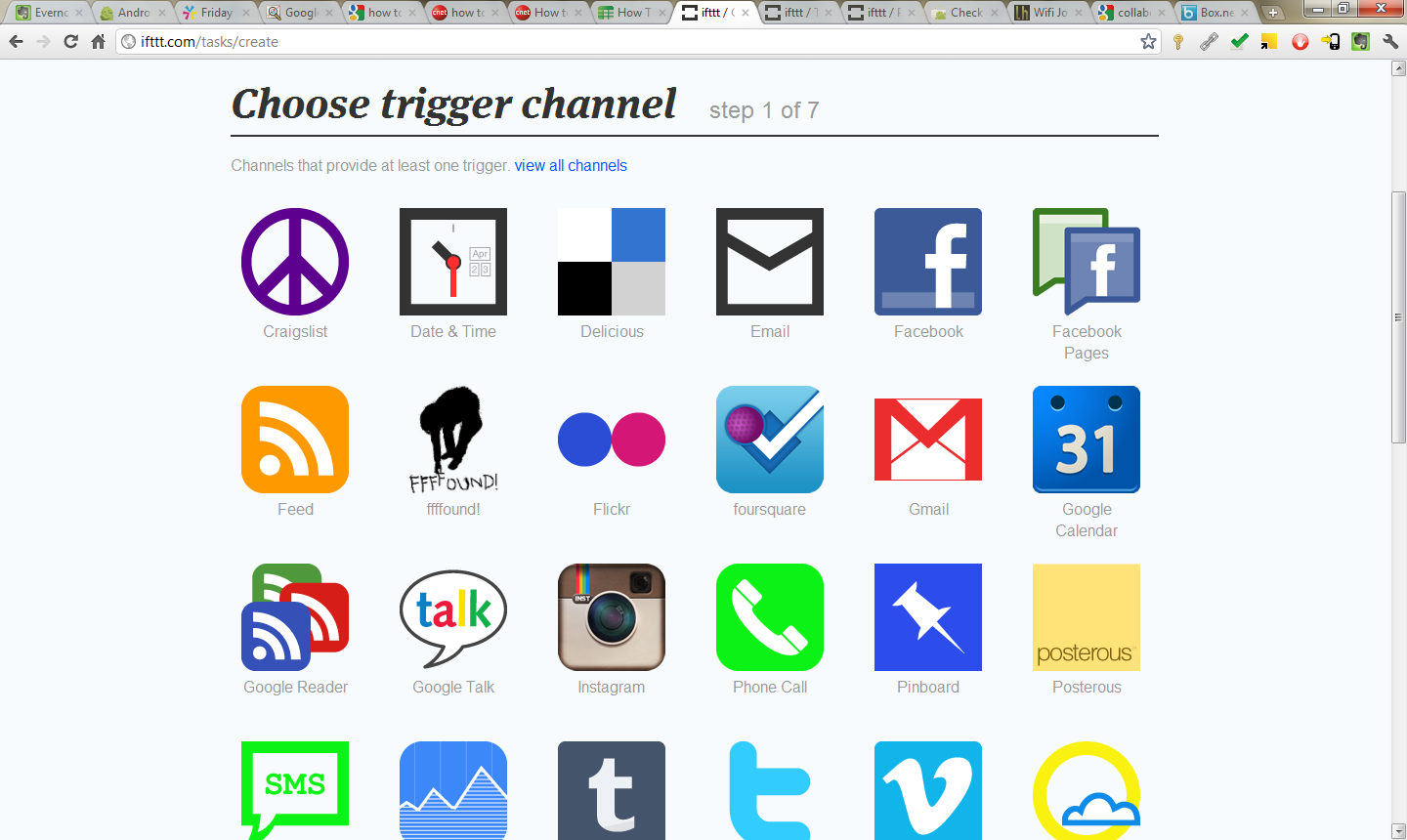 Step 4: Choose a channel.