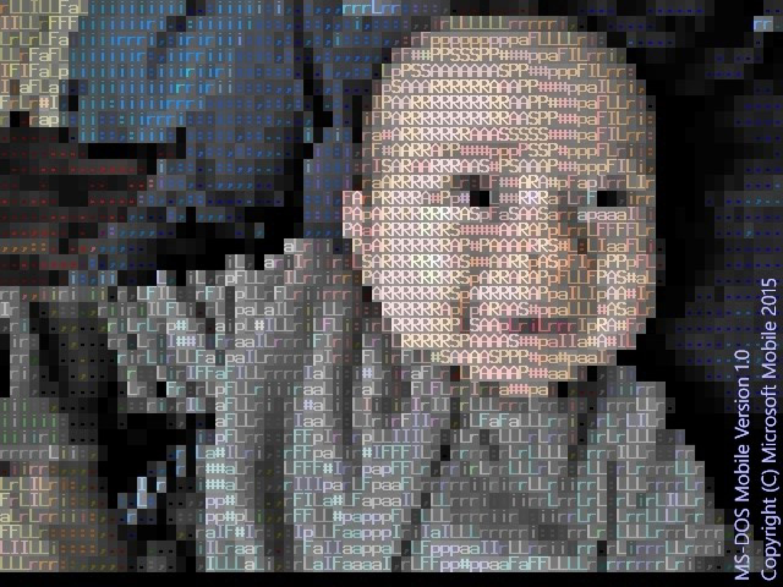 Microsoft's MS-DOS Mobile joke app for April Fools' Day comes with a camera app that takes photos in ASCII-art style.