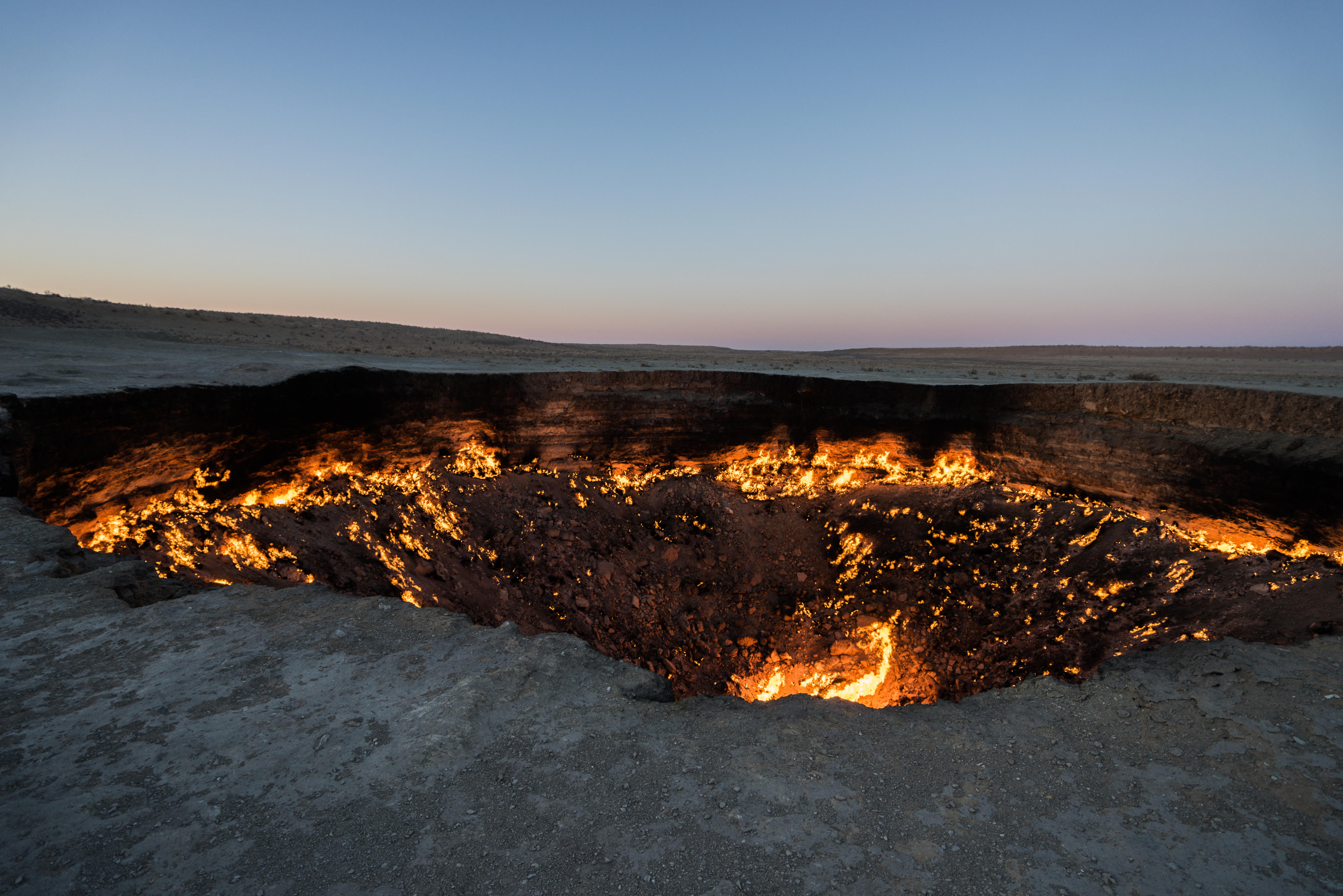 "Turkmenistan's ""Gateway to Hell"" Crater"