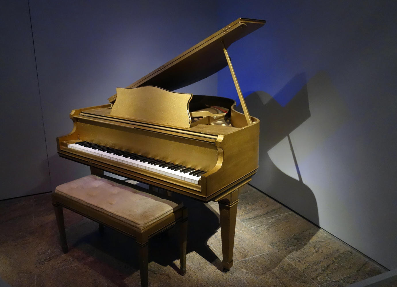 Jerry Lee Lewis' grand piano