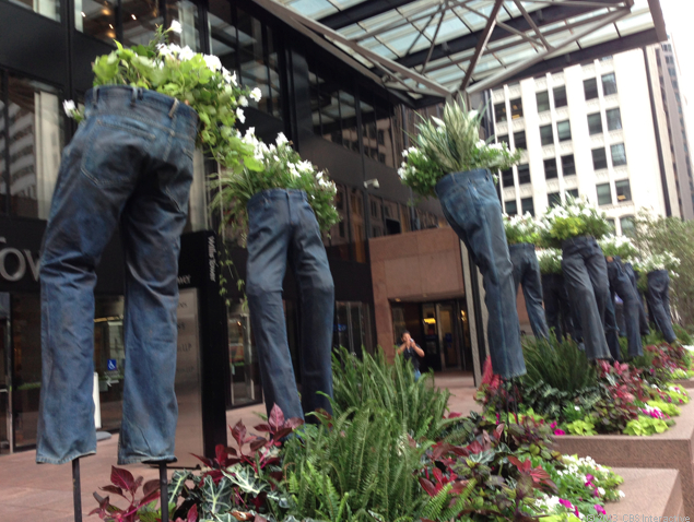 Jeans planters in Chicago