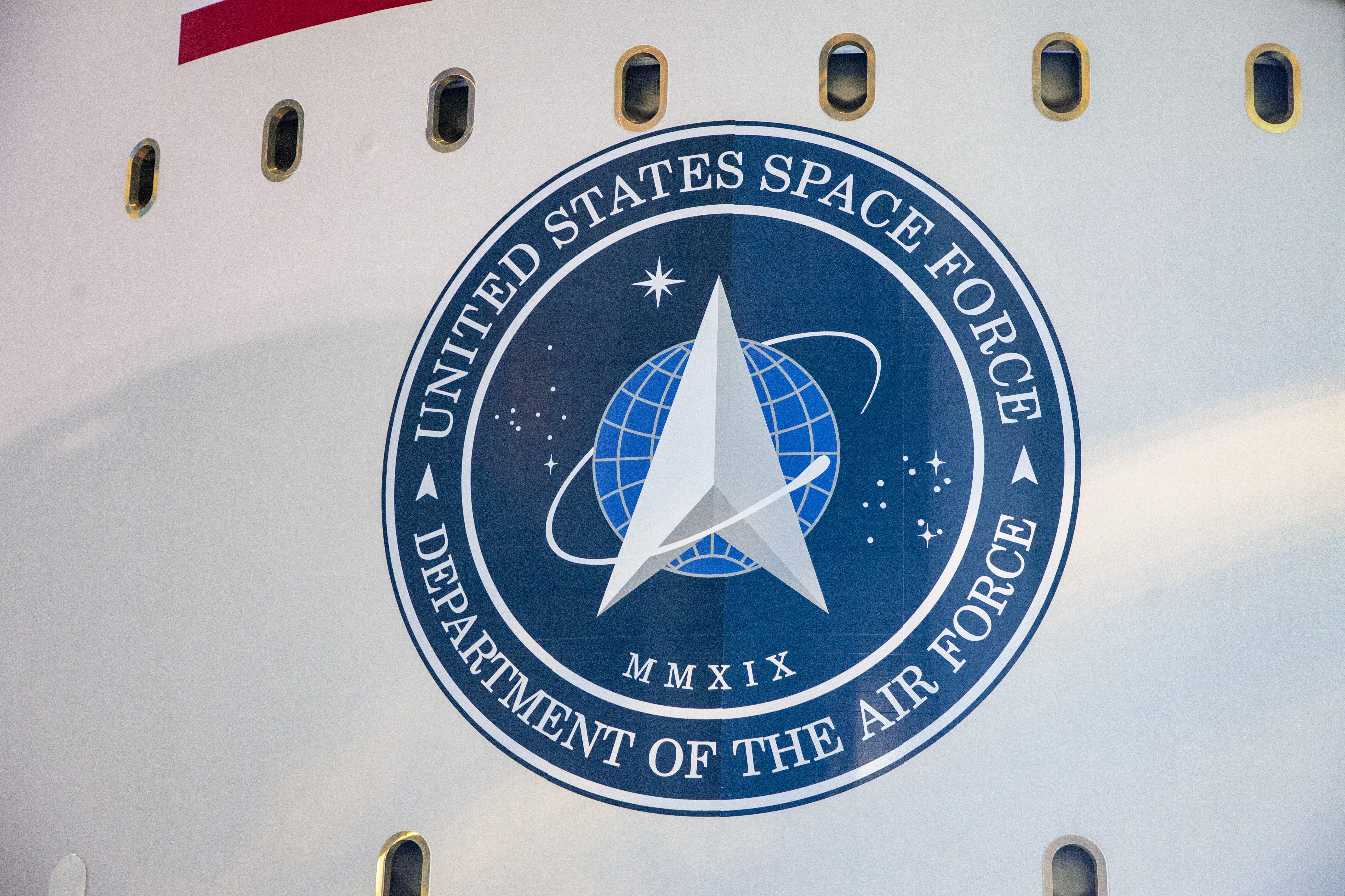 US Space Force logo on a United Launch Alliance rocket