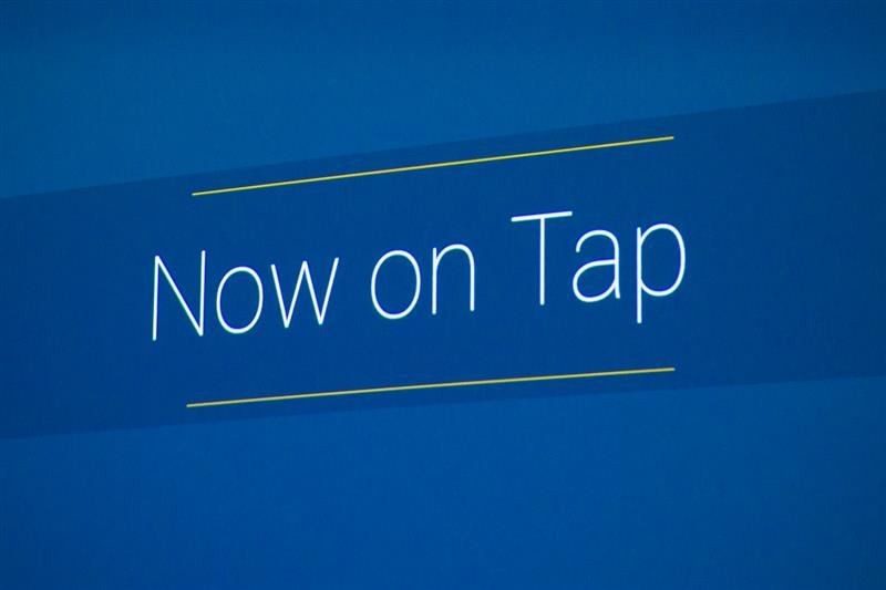 Currently serving: Google Now on Tap