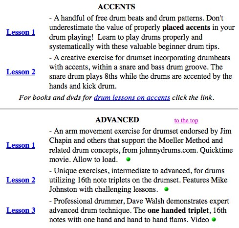 Drums Database