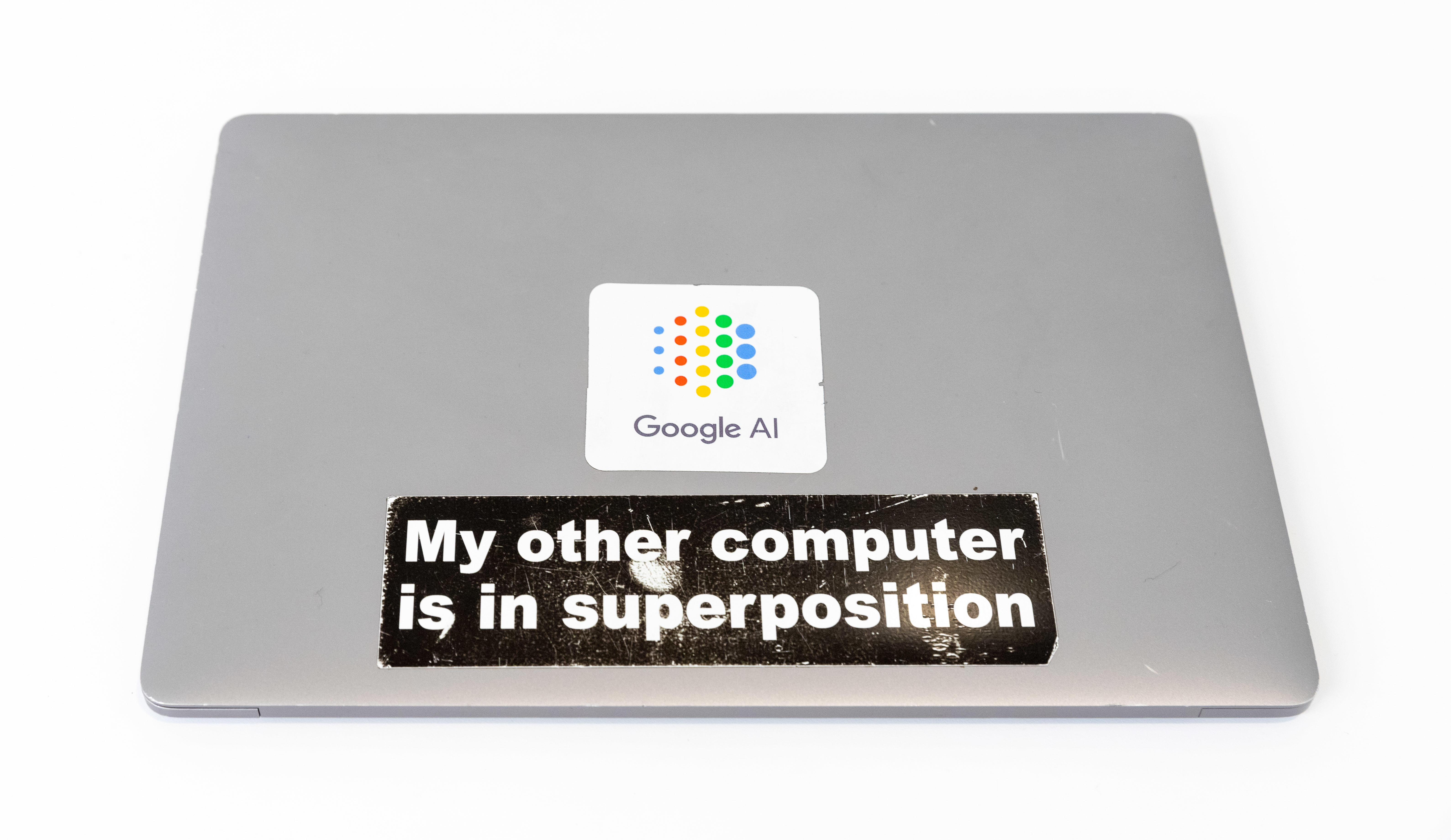 Google quantum computing sticker