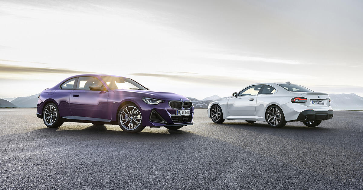 The 2022 BMW 2 Series is slightly larger and 100% more purple