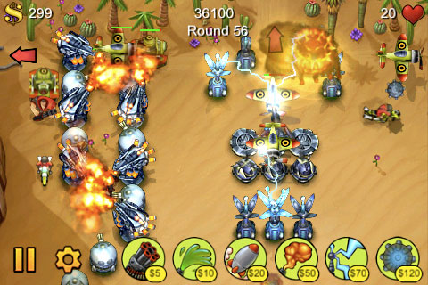 Field Runners (and other tower defense games)