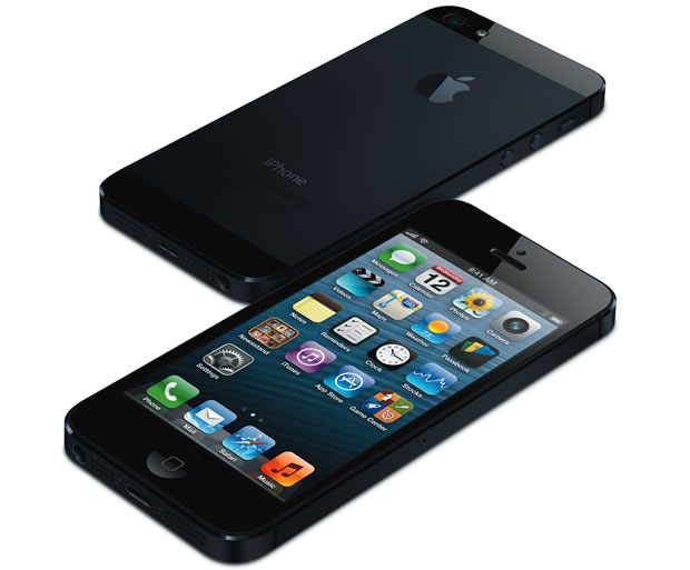 The iPhone 5 front and back.