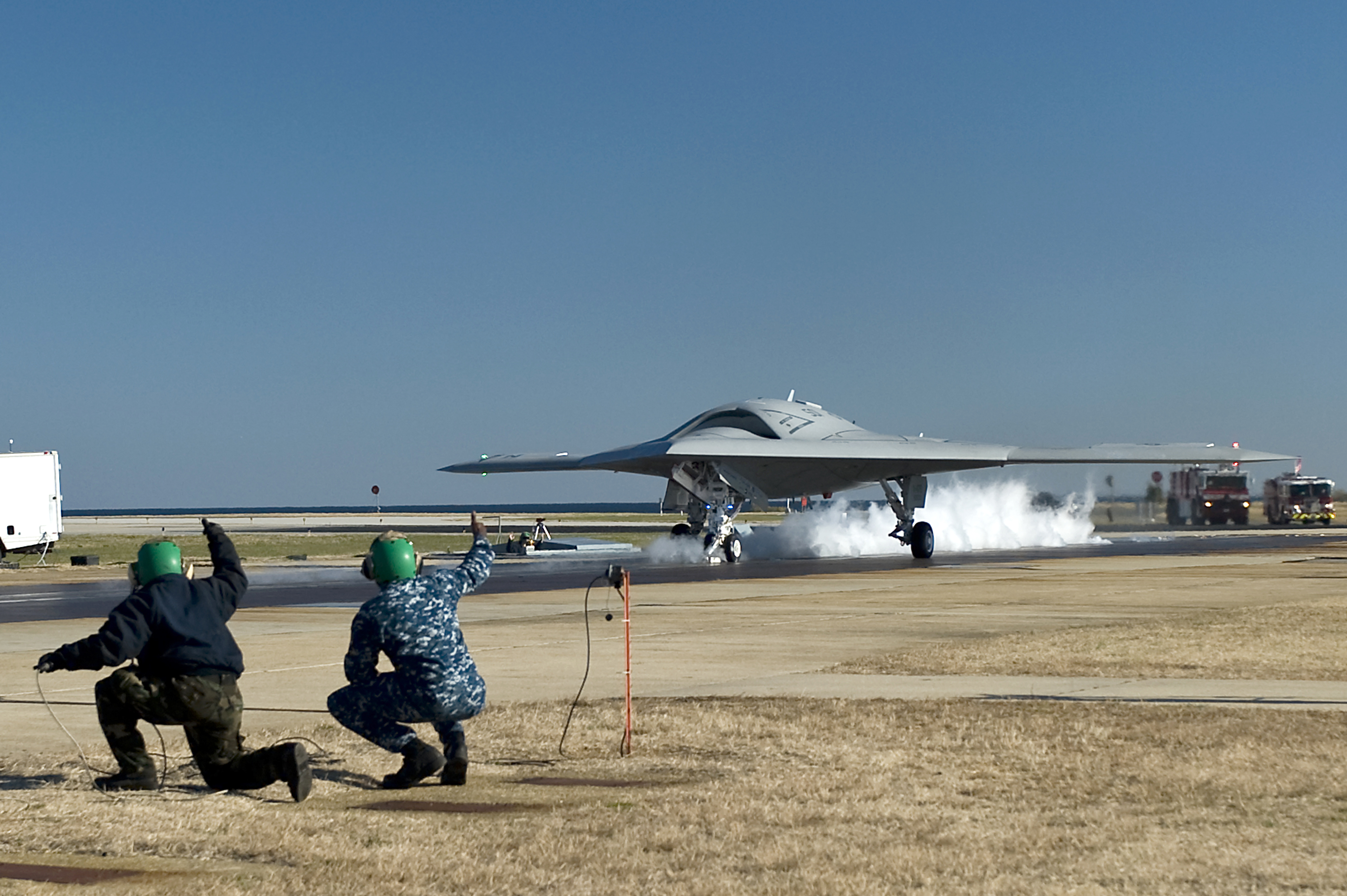 X-47B in catapult test