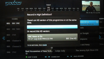 YouView recording