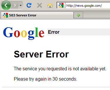 Google News was inaccessible for many on Thursday morning.