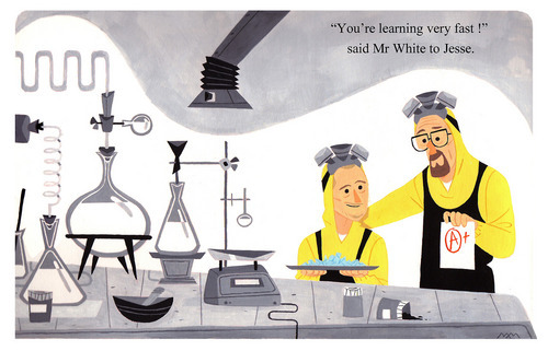 """""""Breaking Bad"""" Golden Book page"""