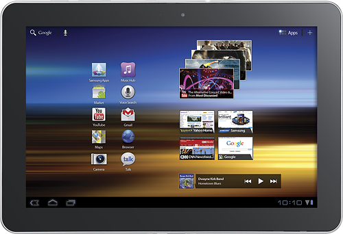 A current Samsung Galaxy Tab 10.1 Future high-resolution tablets are on the way.