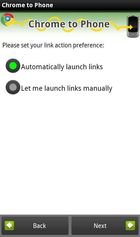 Chrome to Phone Link Preference