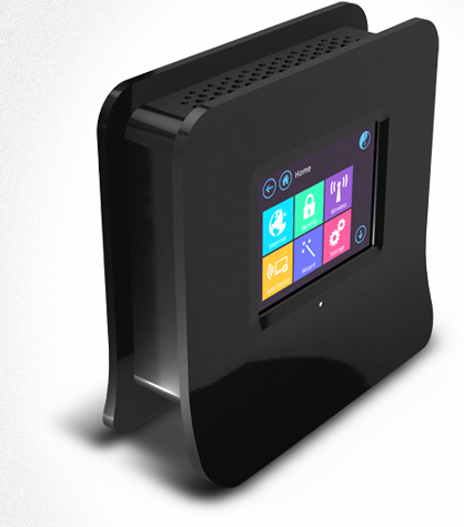 The new touch-based Almond Wireless-N router from Securifi.