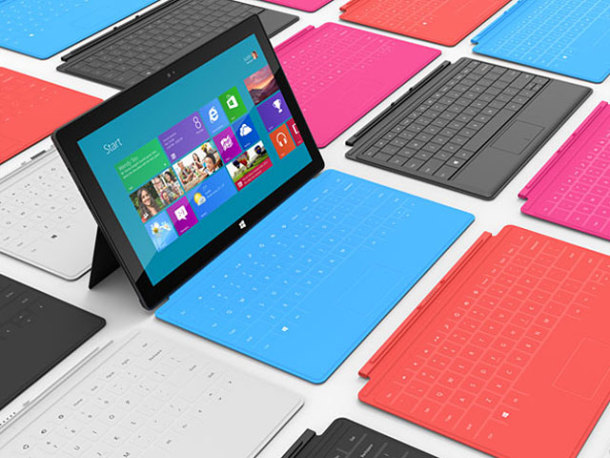 Microsoft's Surface tablet.