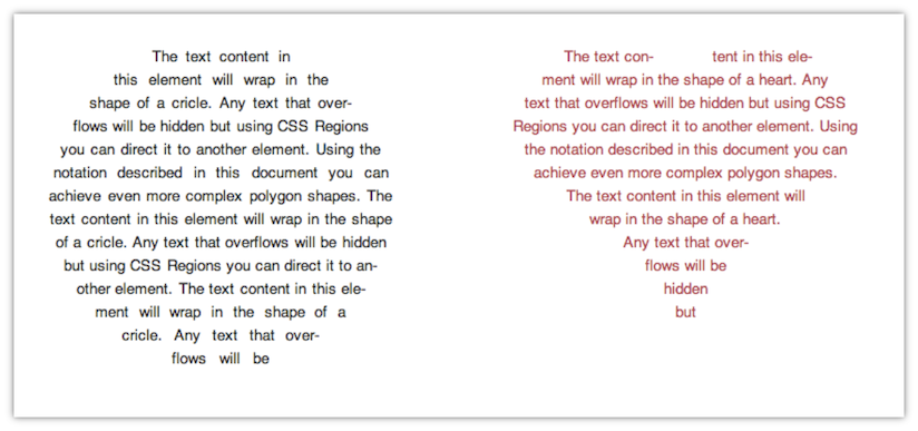 Adobe's proposed CSS extensions would, among other things, let Web developers confine text to a specific shape.