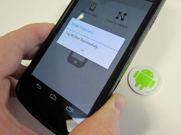 Android NFC guide tag written