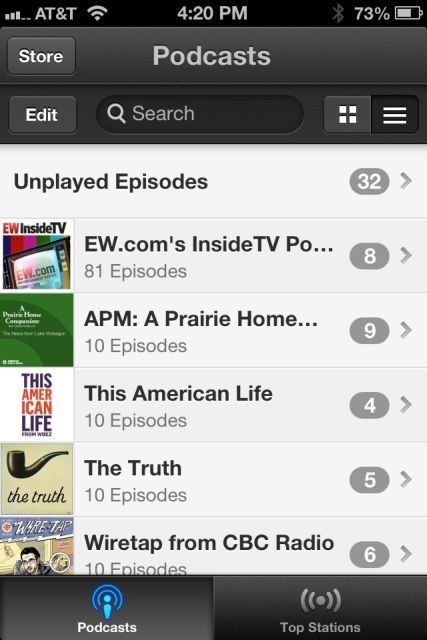Apple's Podcasts app: barf.
