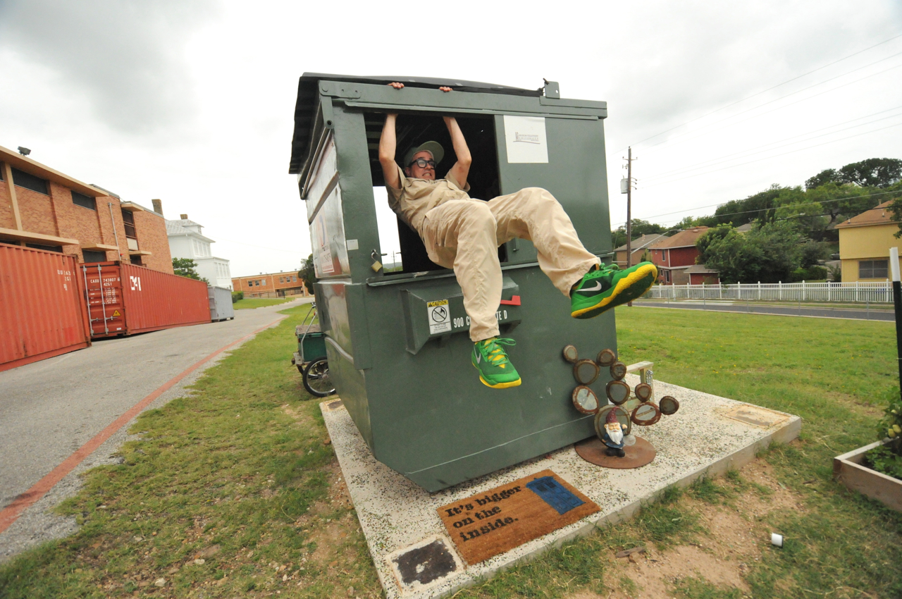 Prof. Dumpster leaping