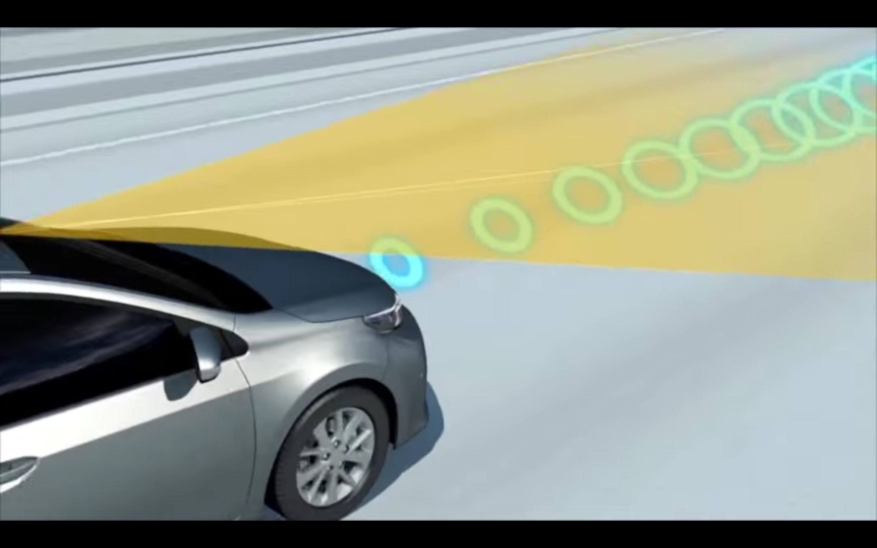 No, your car won't actually emit yellow beams and blue rings. But you get the idea.