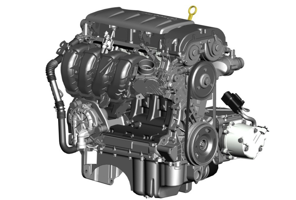 GM's 1.4L engine generator for the 2011 Chevrolet Volt.