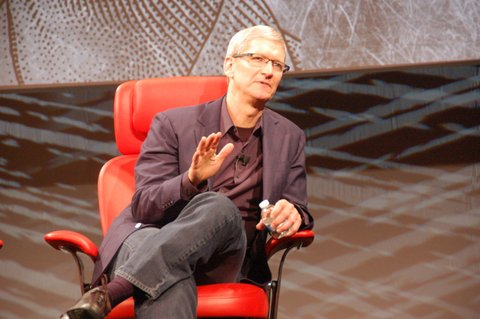 Apple CEO Tim Cook at the D10 conference in 2012.