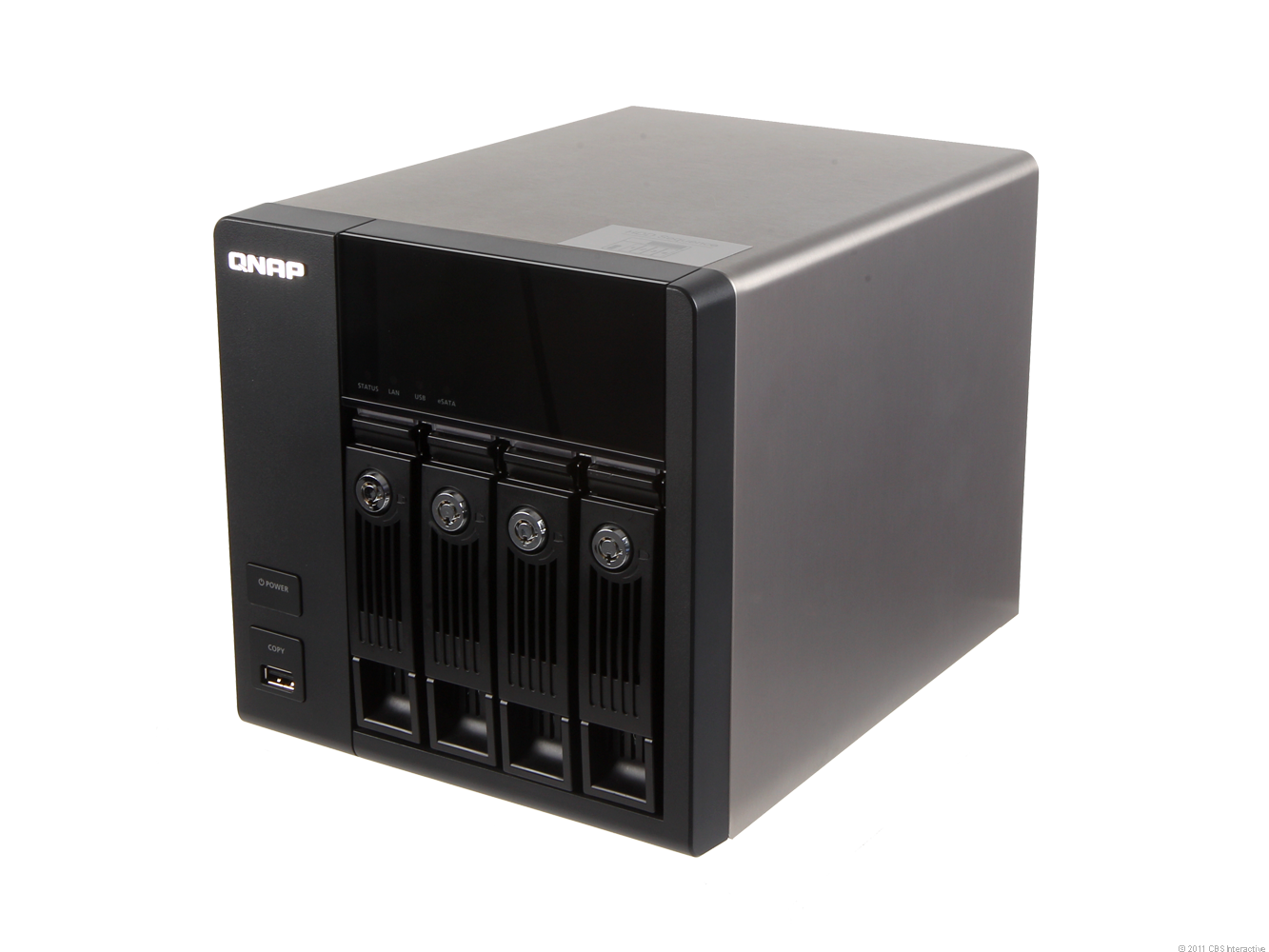 A high-end NAS server from QNAP.
