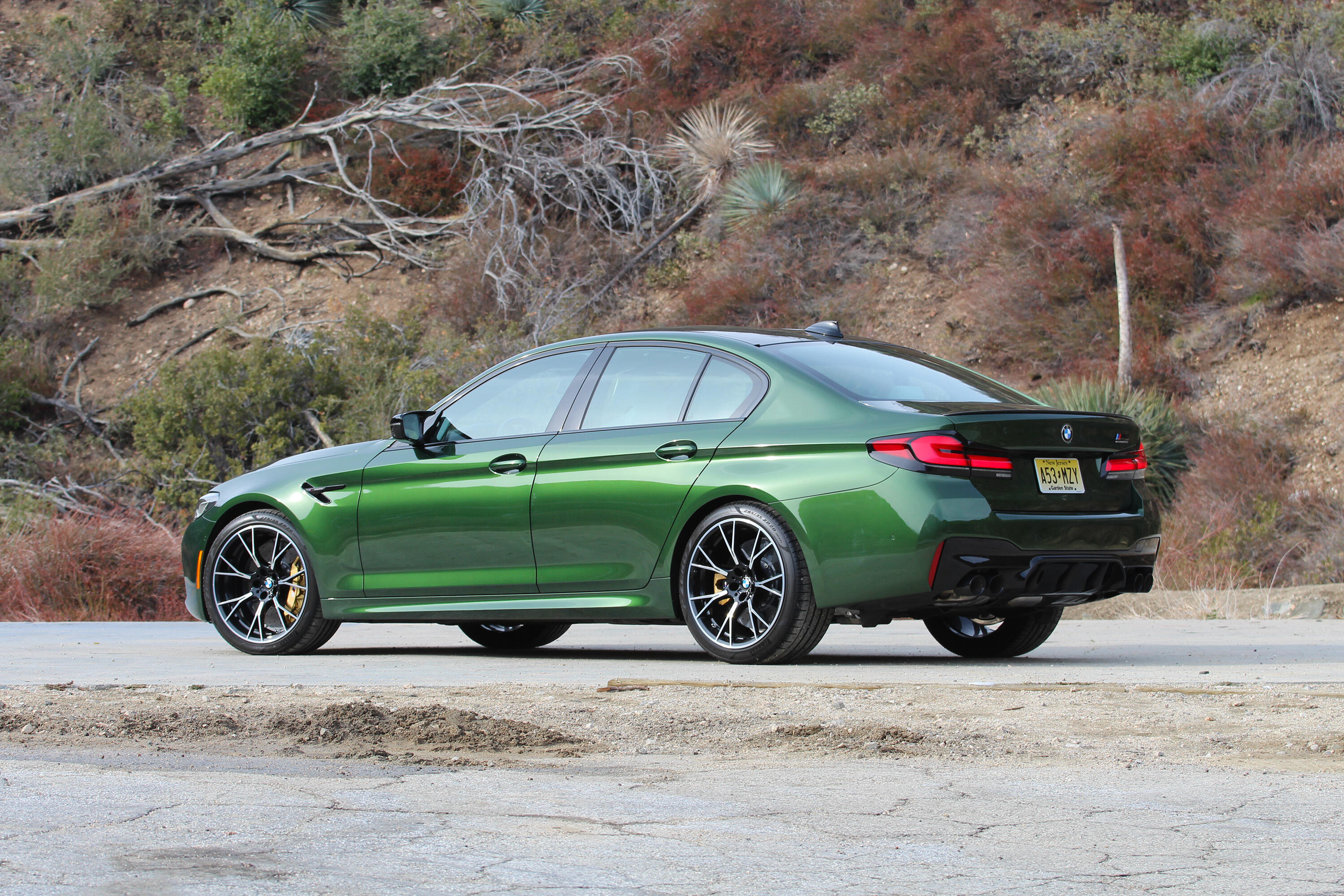2021 BMW M5 - rear three-quarter view