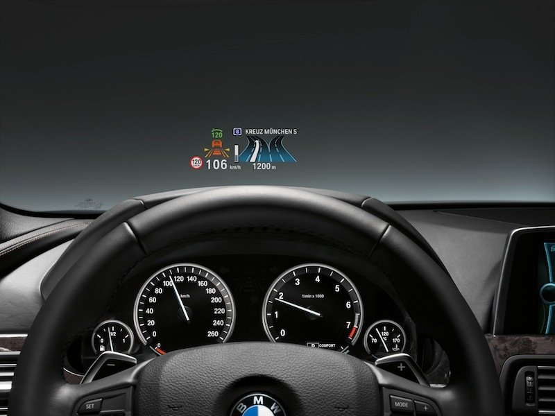 BMW uses color and more intuitive symbols to make Head-Up Display driving data easier to read.