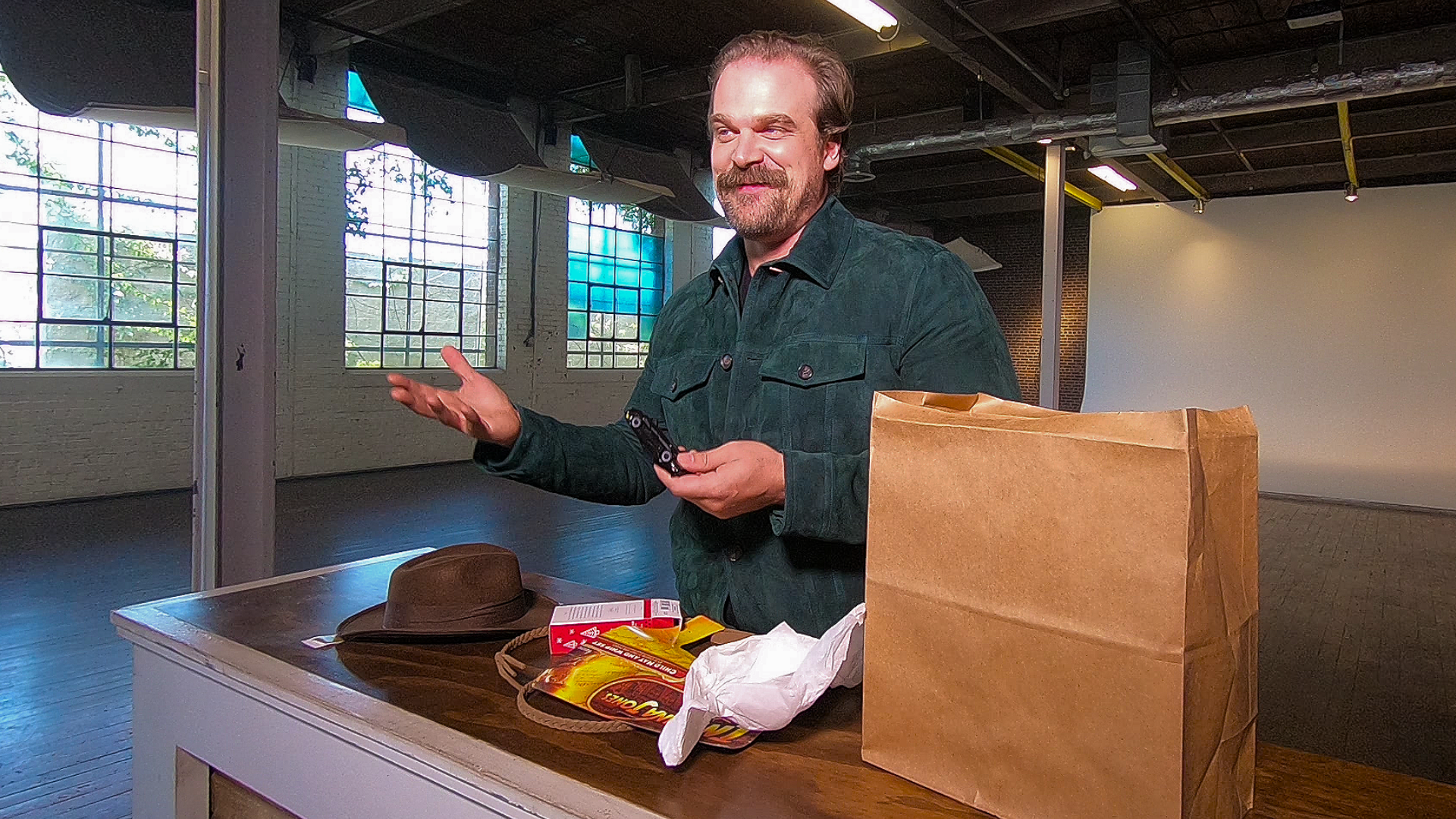 Video: Stranger Things' David Harbour unboxes some CNET surprises