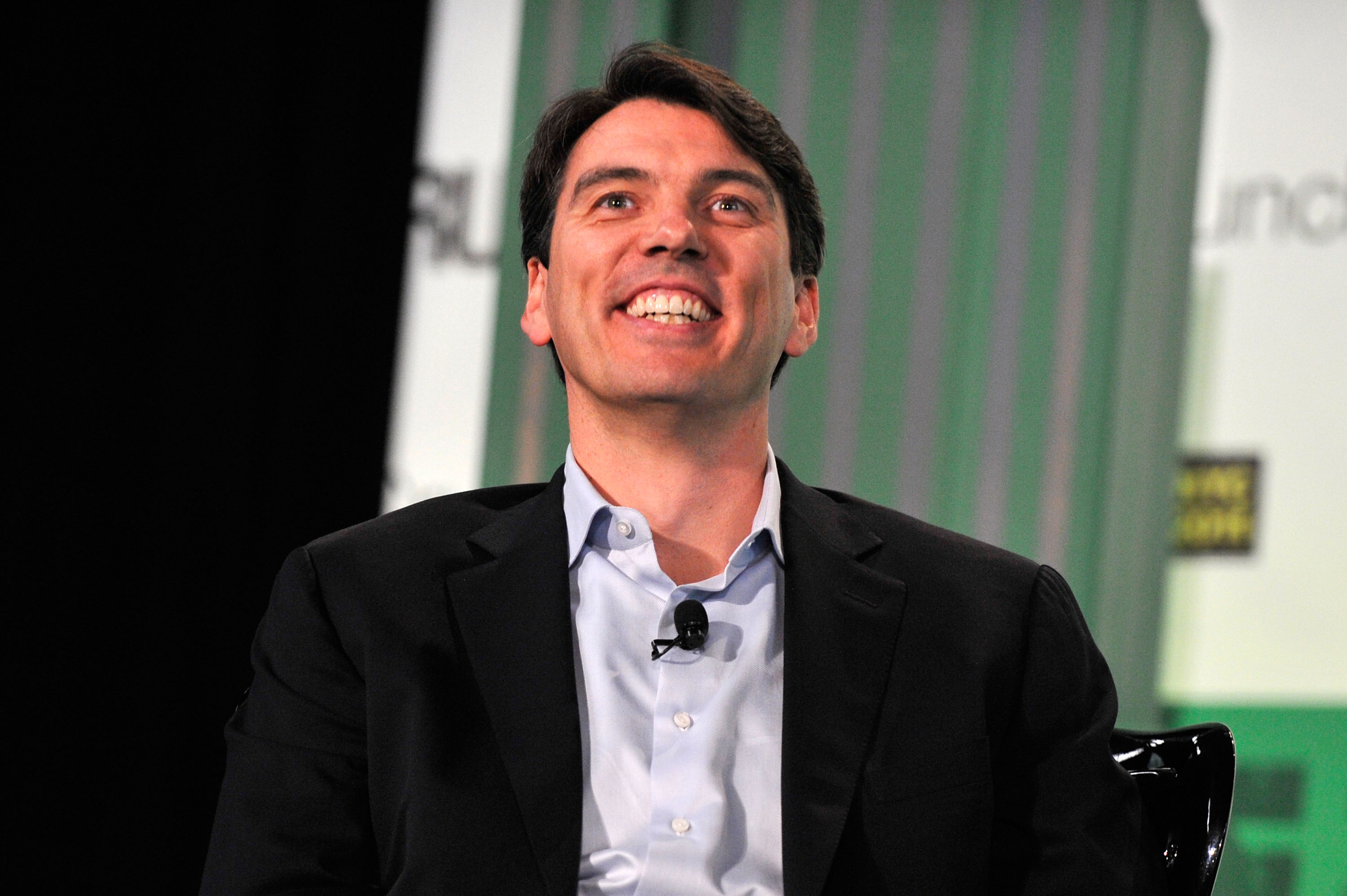 AOL CEO smiling
