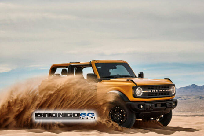 2021 Ford Bronco leaked photo