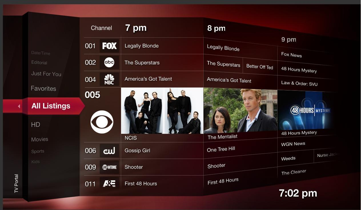 Rovi's Liquid media guide will provide access to broadcast TV, broadband Internet content and personal media.