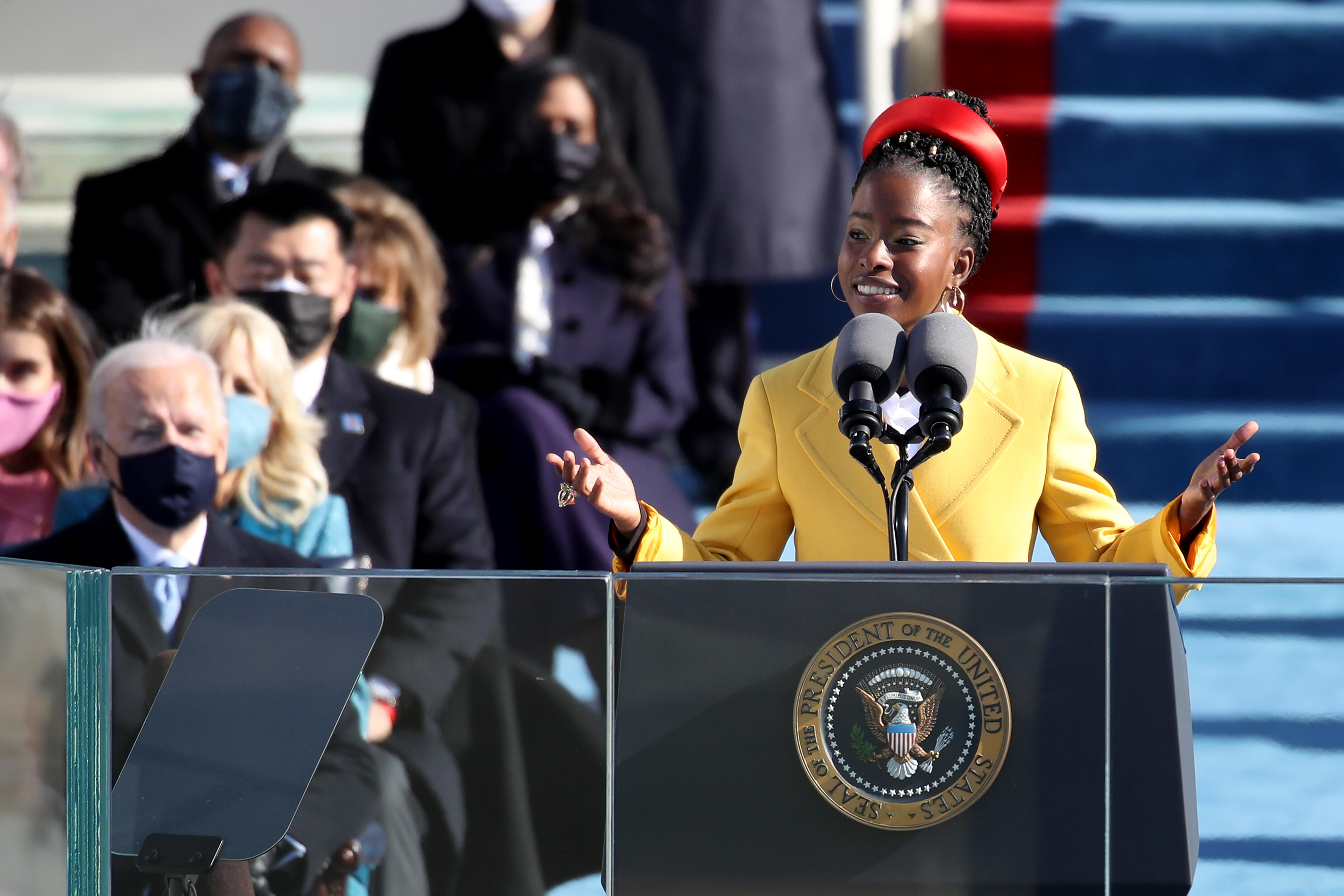Amanda Gorman speaks at President Biden's inauguration