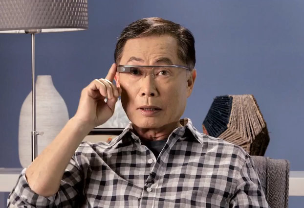 George Takei tries Google Glass