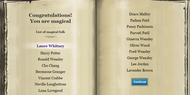 One step closer to Pottermore.