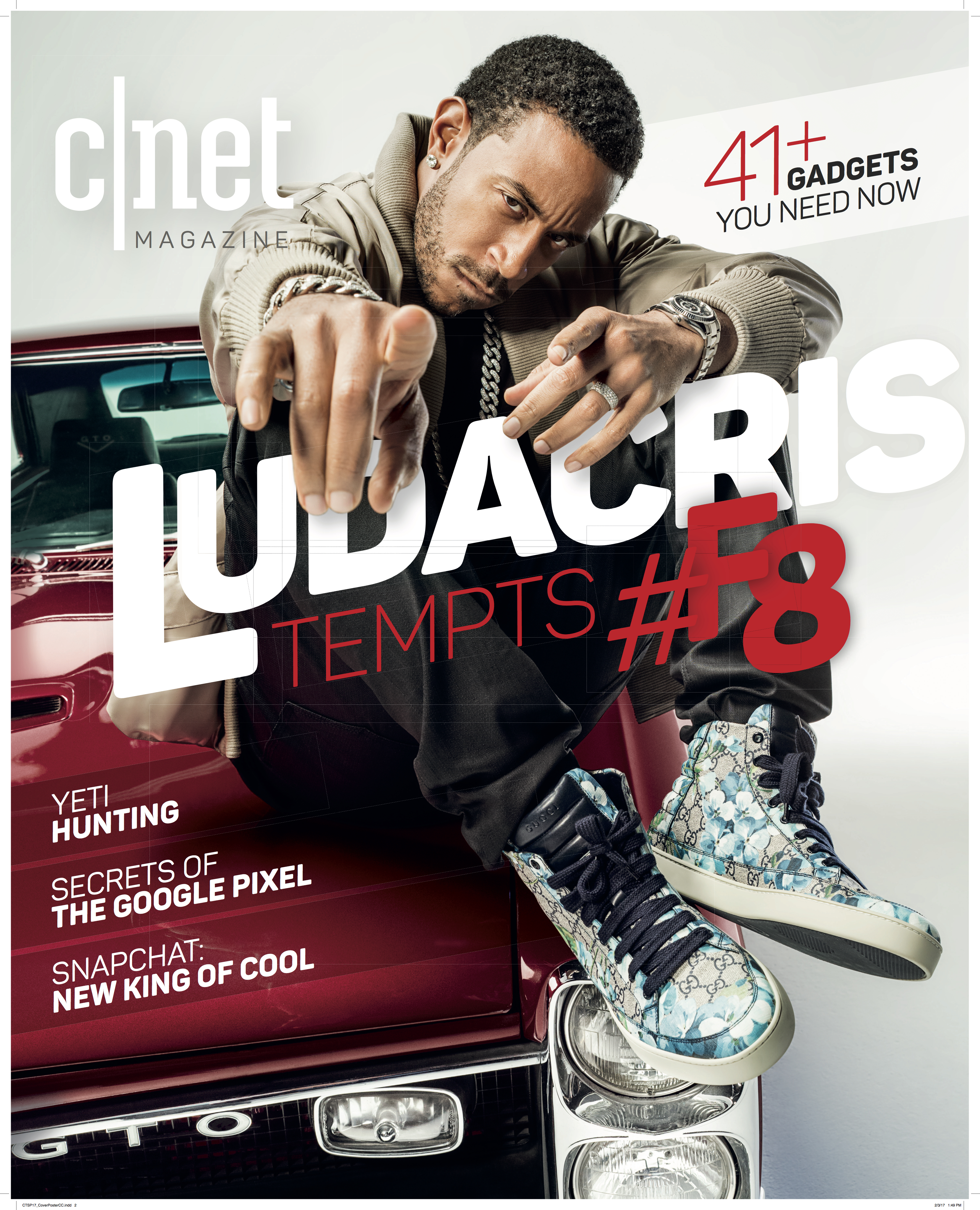 Ludacris on the cover of CNET Magazine