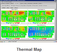 Using sensors, SynapSense can create a thermal map of the racks in a data center.