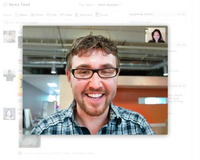 Facebook's new video chat feature.